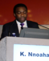GSWH Study Coordinator, Dr Kelechi Nnoaham from the University of Oxford, presenting results from the study